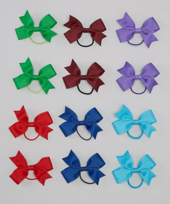Jewel Tone Hair Ties Set