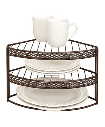 Rust Infinti Link Three-Tier Corner Shelf