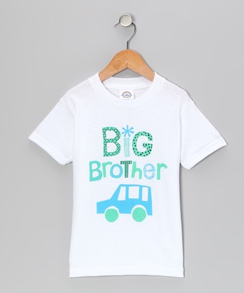 White 'Big Brother' Tee - Toddler & Boys