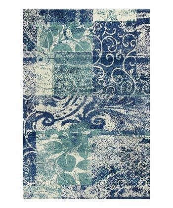 Blue & Green Artisan Rug