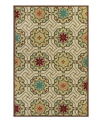 Ivory Mosaic Indoor/Outdoor Rug
