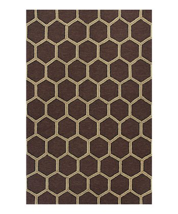 Mocha Honeycomb Indoor/Outdoor Rug