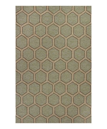 Seafoam Honeycomb Indoor/Outdoor Rug