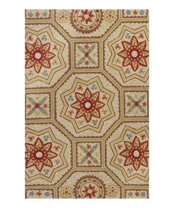 Sand Arabesque Indoor/Outdoor Rug