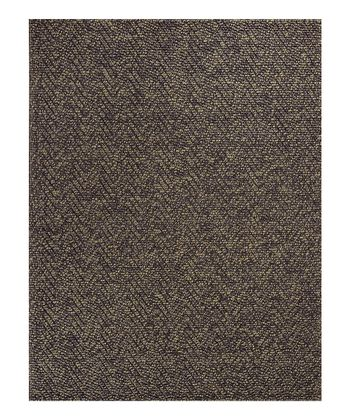 Mocha Heather Herringbone Rug