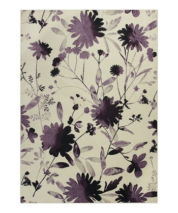 Purple Watercolors Rug