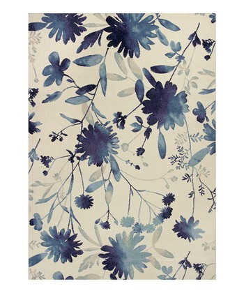 Blue Watercolors Rug