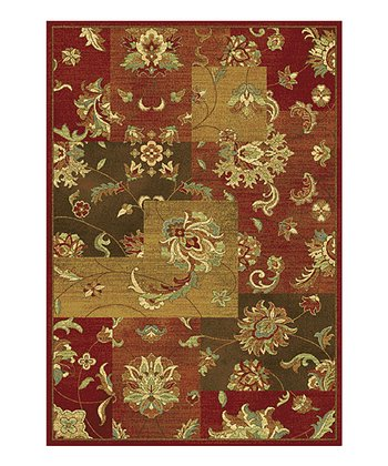 Red Mahal Views Rug