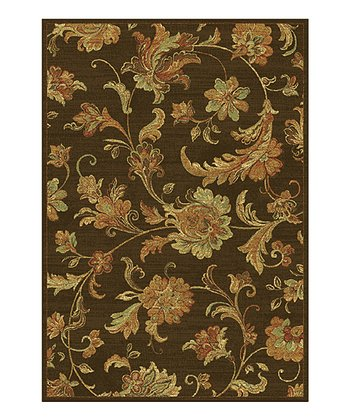 Mocha Aegean Scroll Rug