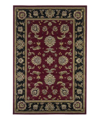 Red & Black Bijar Rug