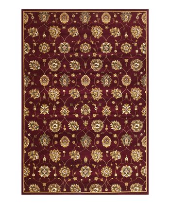 Red Tabriz Panel Rug