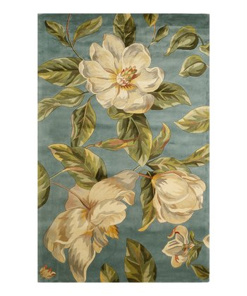 Light Blue Magnolia Rug