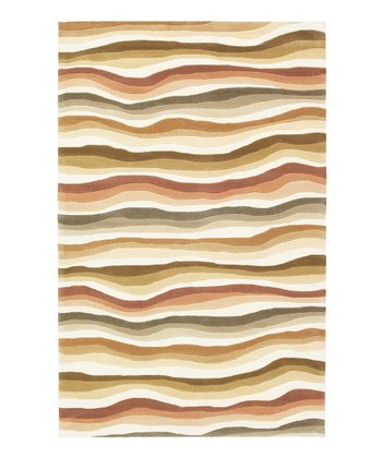 Earthtone Waves Rug