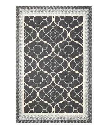 Charcoal Filigree Indoor/Outdoor Rug