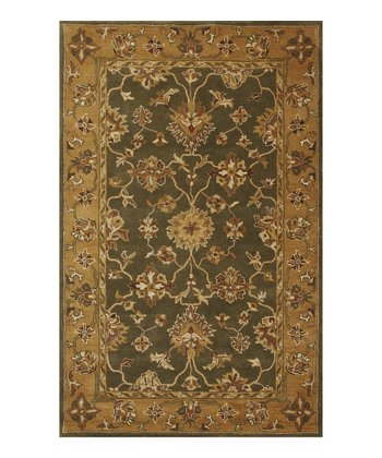 Green & Gold Riya Wool Rug