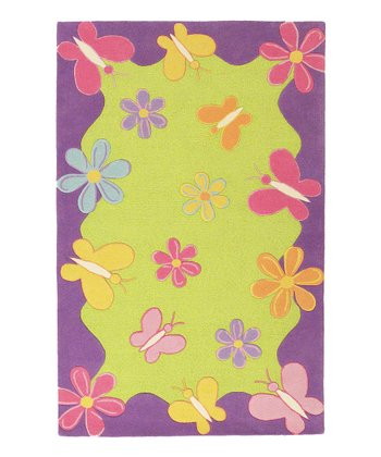 Springtime Fun Wool Rug