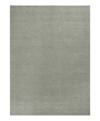 Gray Heather Herringbone Rug