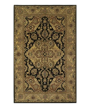 Black & Coffee Polynaise Wool Rug