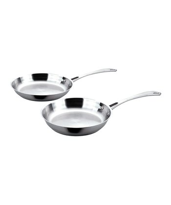 "Copper Clad 10"" & 12"" Stainless Frying Pan Set"