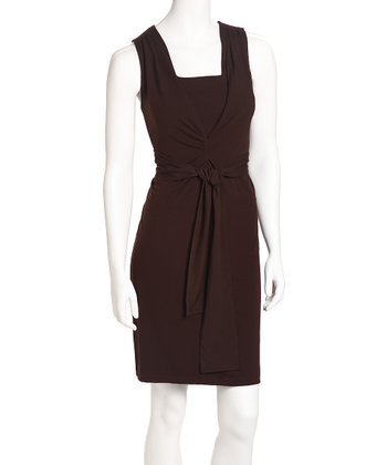 Dark Chocolate Jet Set Nursing Dress