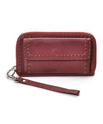 Wine Cross-Stitch Wallet