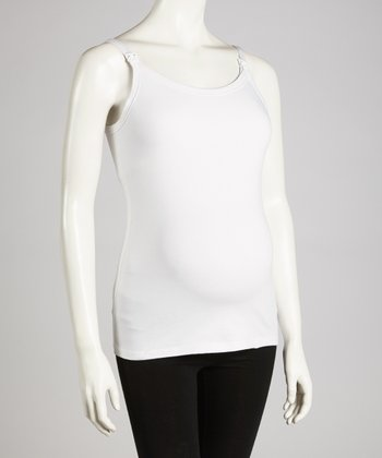 White Maternity & Nursing Tank