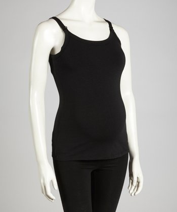 Black Maternity & Nursing Tank - Women