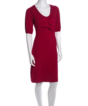 Raspberry Nursing Dress