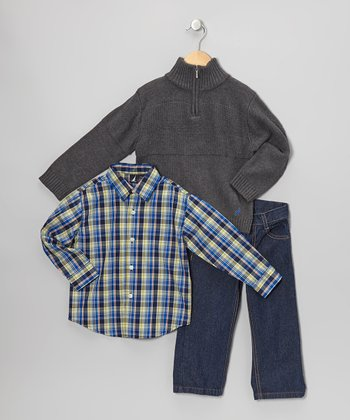 Coal Heather Pullover Sweater Set - Toddler