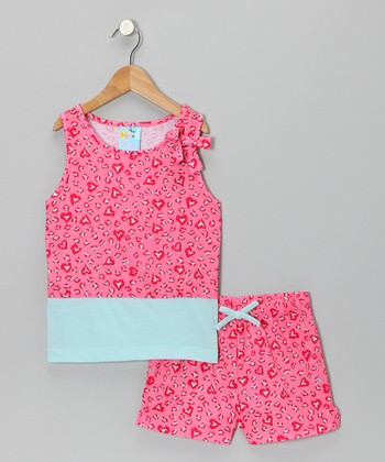 Pink Jungle Love Pajama Set - Girls