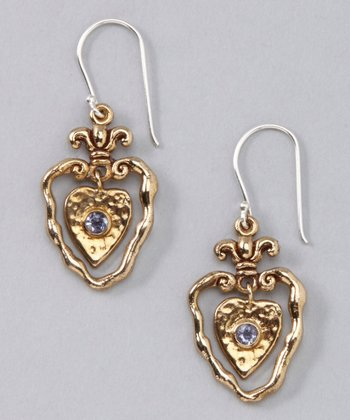 Bronze Heart of Grace Earrings