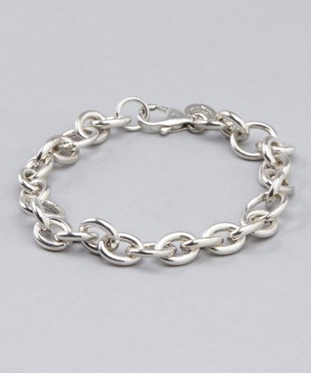 Small Sterling Silver Cable Chain Bracelet