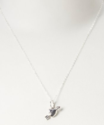 Sterling Silver 'Love' Heart Necklace