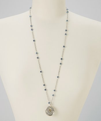 Silver & Swarovski Crystal Keep it Precious Necklace