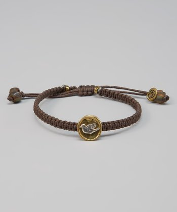 Brown Macrame Dove Bracelet
