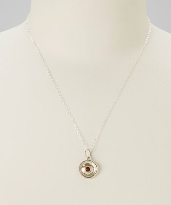 Silver & Garnet Necklace