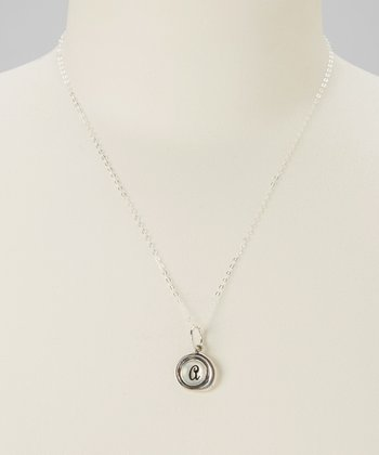 Sterling Silver Mother-of-Pearl Initial Necklace