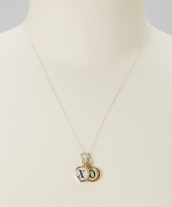 "Brass ""XO"" Love Necklace"