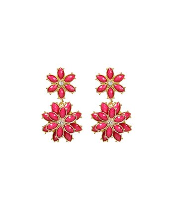 Austrian Crystal & Fuchsia Della Femina Earrings