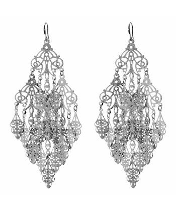 Silver Gabrielle Chandelier Earrings