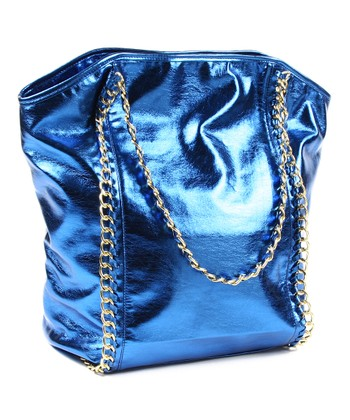 Blue Metallic Mia Handbag
