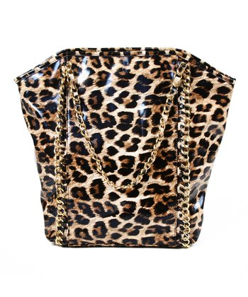 Natural Magnified Leopard Tote