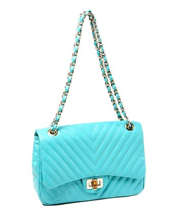 Teal Park Avenue Shoulder Bag