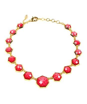 Fuchsia Remsey Hexagon Necklace