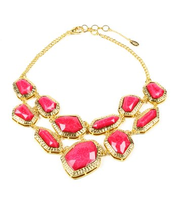 Fuchsia Wainscott Bib Necklace