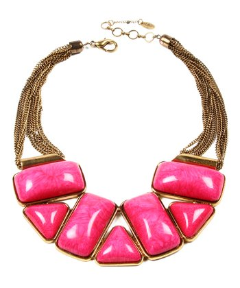 Fuchsia Bridgehampton Bib Necklace