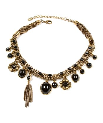 Gold & Black Charm Necklace
