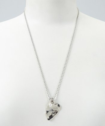Silver Heart 'Aunt' Pendant Necklace