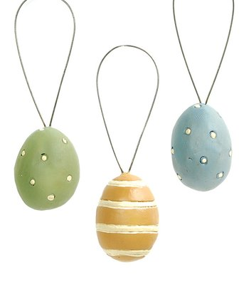 Easter Egg Ornament Set