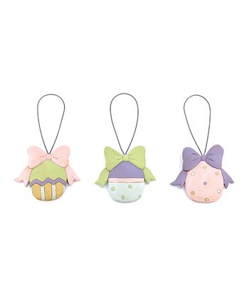Easter Egg & Bow Ornament Set